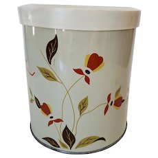 Vintage Jewel Tea Autumn Leaf Metal Canister