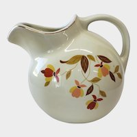 Hall Autumn Leaf Jewel Tea Ice Lip Ball Jug Pitcher