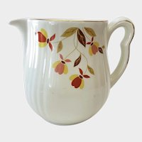 Hall Autumn Leaf Jewel Tea Milk Pitcher