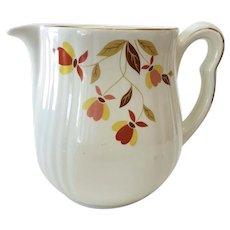 Hall Autumn Leaf Jewel Tea Milk Pitcher