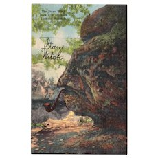 1940's The Stone Witch at Rock City Gardens Lookout Mountain Chattanooga TN Vintage Linen Postcard