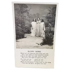 Early 1900's Bamforth's Real Photos Glory Song Vintage Postcard 3 Women Singing