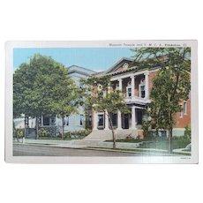 1940's Curteich Masonic Temple & YMCA Building Kankakee Illinois Vintage Linen Postcard