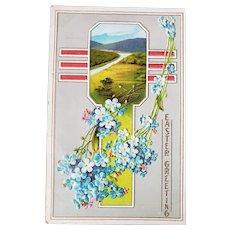 ca1920 Easter Greeting Embossed Postcard