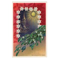 1912 Heymann Embossed Christmas Vintage Postcard Printed in Germany