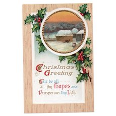 ca1910 Christmas Greeting Vintage Postcard