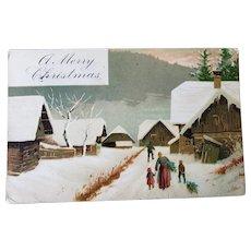 1907 A Merry Christmas Vintage Postcard