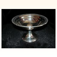 Sterling compote by Frank Whiting beautifully reticulated