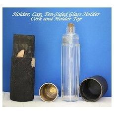 Flask or vintage traveling vanity bottle