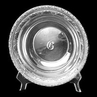 """Sterling 9"""" Alvin bowl w/double rows of floral accents"""