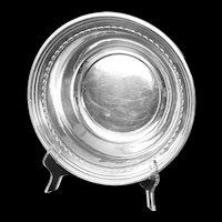 Deep sterling bowl with floral design