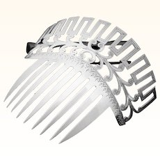 Bride's wedding comb in coin silver