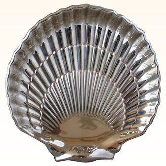 Cartier shell serving plate in sterling
