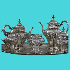 Chantilly Grand Duchess 6 pc. sterling tea/coffee service by Gorham