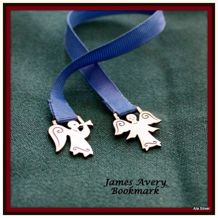 james avery bookmark with angels in sterling al silver estate