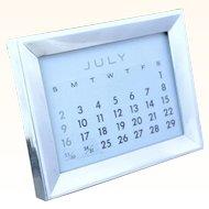 Tiffany perpetual calendar in sterling frame