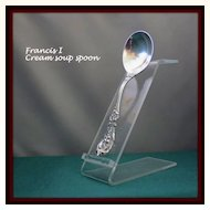 Francis I cream soup spoons in solid sterling by Reed & Barton