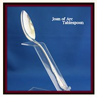 Joan of Arc tablespoon in solid sterling silver by International