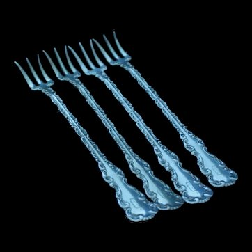 Set of Louis XV cocktail/seafood forks
