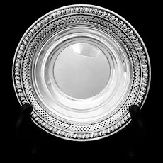 Beautifully reticulated + openwork sterling dish