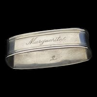 Early silversmith Manchester Silver Company oval napkin ring