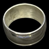 Neat sterling napkin ring made in Mexico