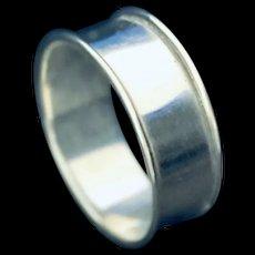 Plain International sterling napkin ring