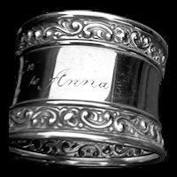 Ornate Gorham LAG napkin ring