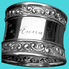 Ornate Gorham LAG napkin ring