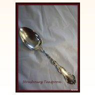 Strasbourg teaspoons in solid sterling by Gorham