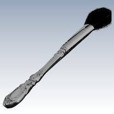 Cosmetic powder brush in Francis I by Reed and Barton