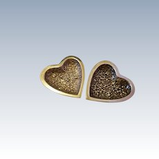 Heart-shaped sterling repousse trinket dish for a gentleman or lady