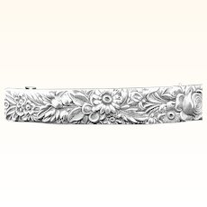 French hair barrette in repousse