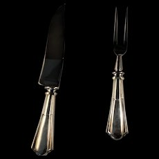 """Whiting """"Duncan Phyfe"""" Carving Set Sterling Handles"""