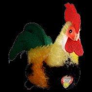 Steiff '50s/'60s Mohair & Felt Rooster Hahn Bird All ID