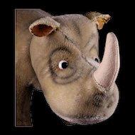 Rare Largest Size! Steiff Nosy Rhinoceros Nashorn ID Talks