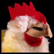 Rare Little Sister Steiff Sleeping Floppy Hen Huhn Chicken Bird '58 and '59 ONLY ID