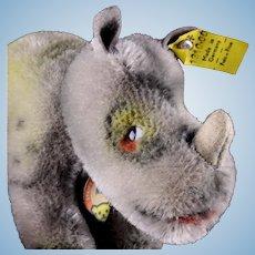 Tiny Baby Brother Steiff Nosy Rhinoceros Nashorn All ID