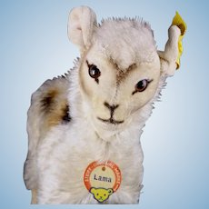 Early Rare Tiniest Exotic Steiff Llama Lama with Velveteen Ears All ID 1957 and 1958 ONLY