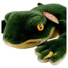 Steiff Vintage Swimming Mohair Frog FROGGY All ID NEAR MINT