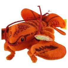 Tiny Brother Rare Steiff Crabby Lobster All ID