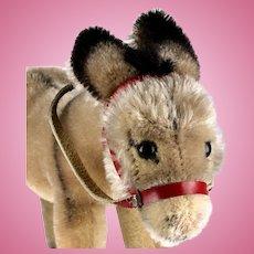 Rare Earliest Model Steiff Smallest Mohair Donkey Esel 2 IDs