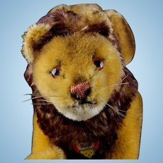Rarest of the Rare! Steiff '50s Small Size 5xJointed Papa Lion Wild Cat ID