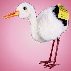 Rare Steiff Wool Miniature PomPom Stork Bird All ID