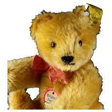 Steiff 5xJointed Gold Blond Original Teddy Bear All ID Fantastic Color