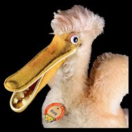 Rare Steiff Piccy Pelican Bird Punk Hairdo Gorgeous Coloring ID 1959 to 1961 ONLY