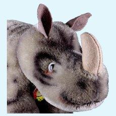 Rare Middle Sister Steiff Nosy Rhinoceros Nashorn ID