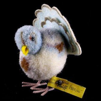 Rare Steiff Wool Miniature PomPom Dove Pigeon Taube Bird All ID