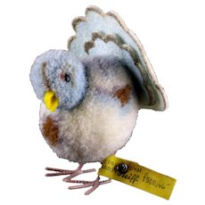 Rare Steiff Wool Miniature PomPom Dove Pigeon Taube Bird All ID