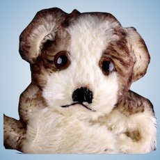 Rare Sweet Steiff Puppy Dog Hand Puppet Molly 2 IDs